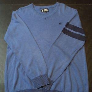 Etnies Sweater Size Large V-Neck Blue Mens